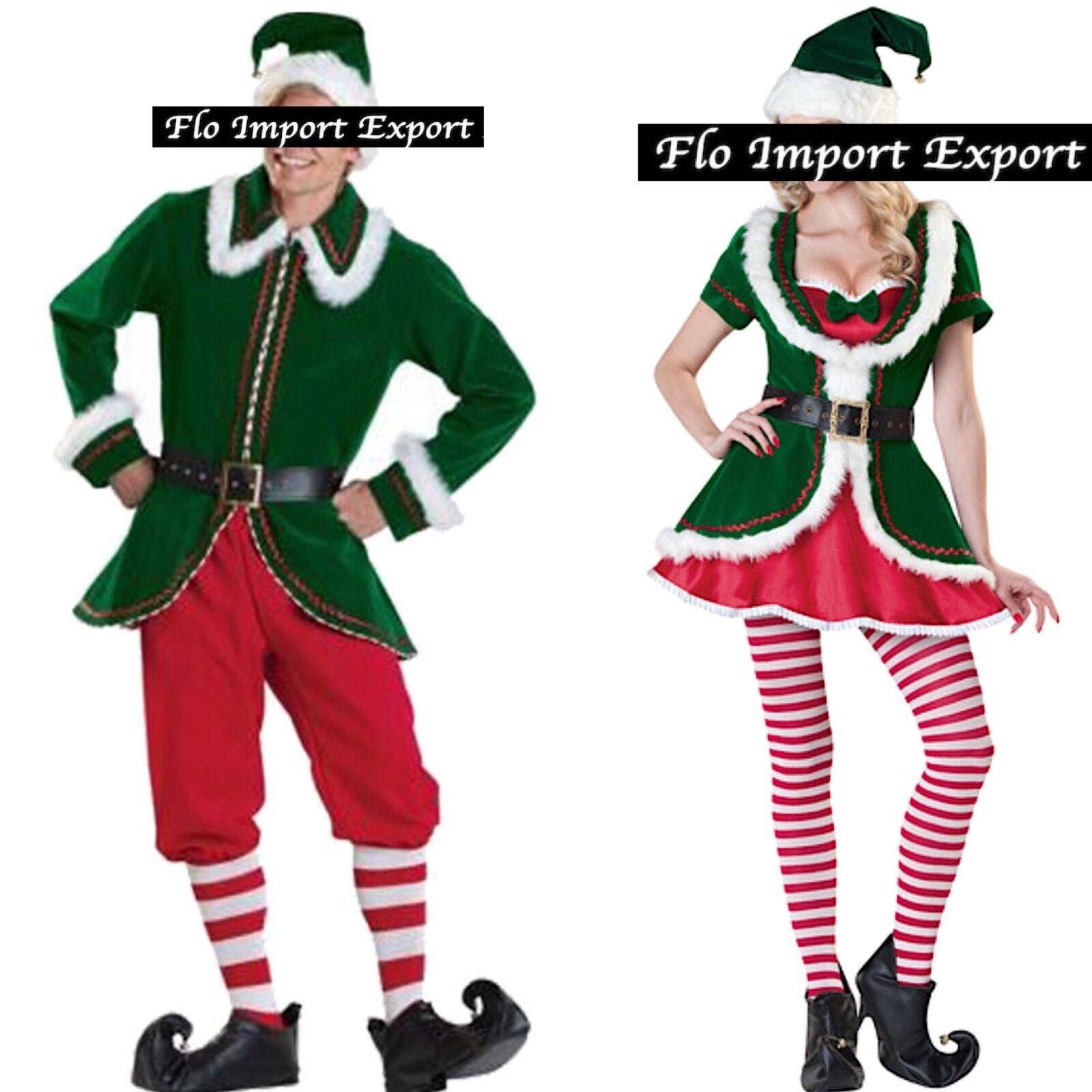 Christmas Elf Costume Family Set Santa Helper Elf Dress with Hat and Socks