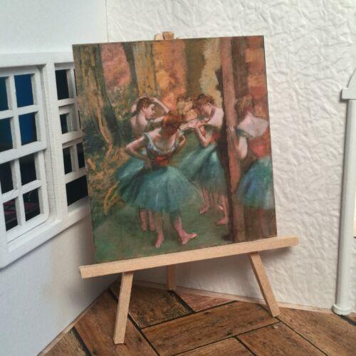 Miniature Dollhouse Room Box Wall Art Edgar Degas Dancers Classic Handmade
