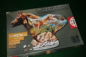 Horse Shaped Educa 500 Piece Jigsaw Puzzle - At A Gallop