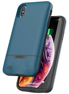 For-iPhone-Xs-Max-Battery-Case-Cover-Slim-Protective-Charging-Case-Cover-Blue