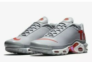 85a3a67a7f4 Nike Air Max Plus TN SE Men s 9 Leather Mercurial Wolf Grey Red ...