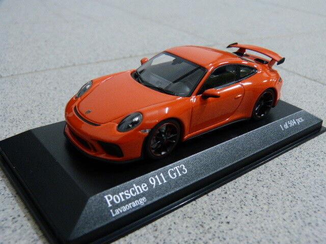 Porsche 911 991 GT3 lavaOrange 2016 limitiert Minichamps Modellauto 1 43  | Hochwertig