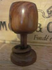Lovely Vintage Treen/Wooden Turned Loving Cup Goblet with Ring Very Collectable