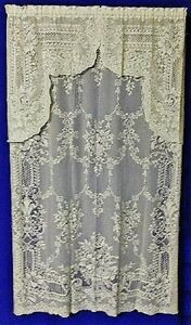 Elegant-FONTAINE-Cotton-Blend-Lace-Festoon-Valances-Swag-Pairs-and-Panels