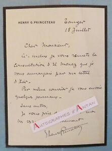L-A-S-Henry-G-PRINCETEAU-Tanger-El-Monaz-MAROC-Lettre-autographe-LAS