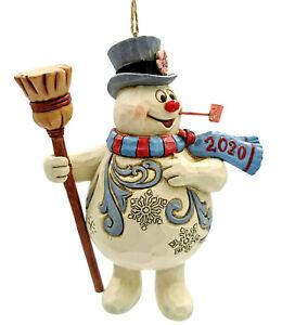 Jim Shore*DATED FROSTY SNOWMAN w/ BROOM ORNAMENT*New 2020*NIB