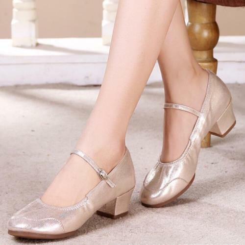 Details about  /Ladies Ballroom Latin Tango Modern Salsa Dance Shoes Block Heel Comfort Pumps D