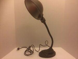 Image Is Loading Vintage Eagle Desk Lamp Cast Iron Art Deco