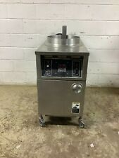 Open Fryer With Filter System Auto Lift Alf F48 High Volume Electric 208v Tested