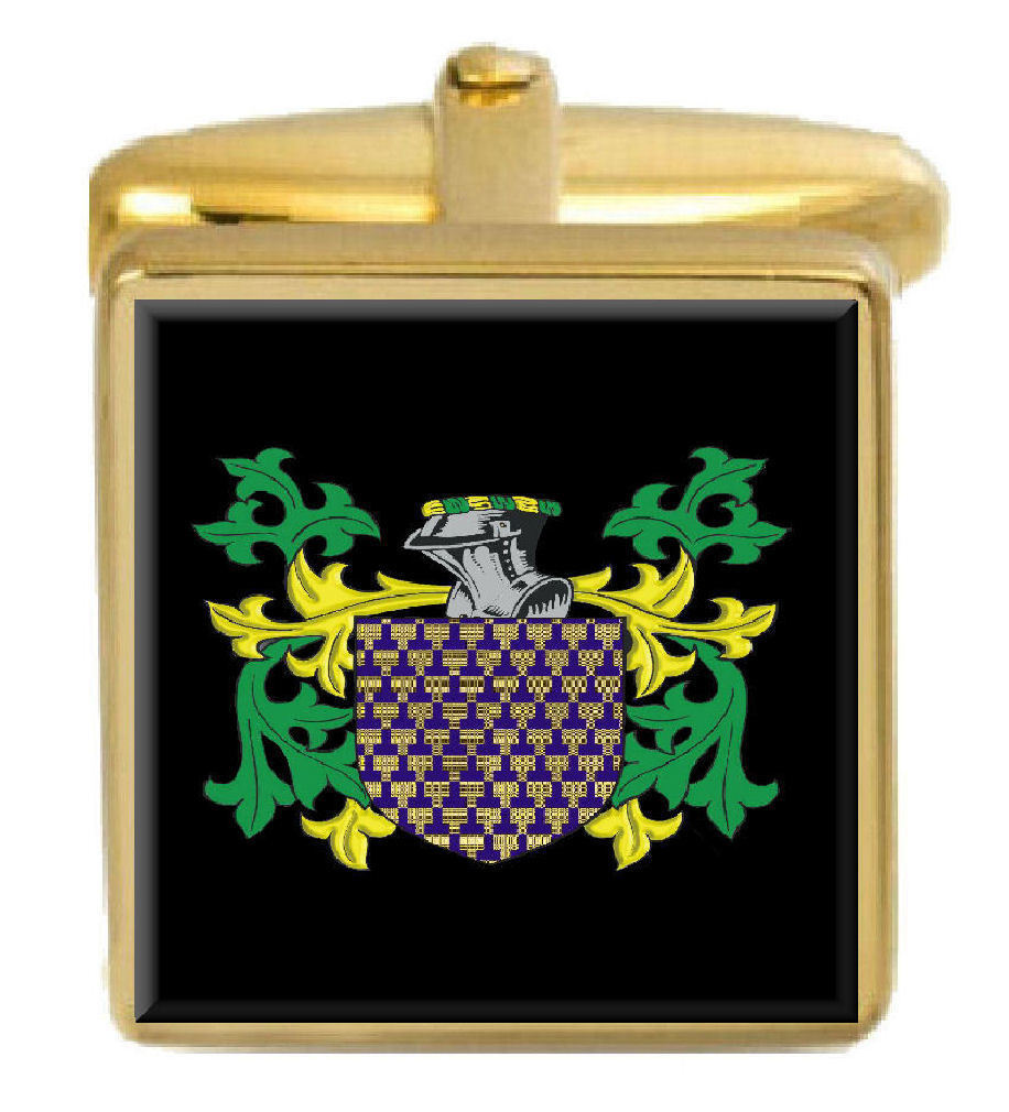 Mcpartlon Scotland Family Crest Coat Of Arms Arms Arms Heraldry Cufflinks Box Set Engraved 48657b