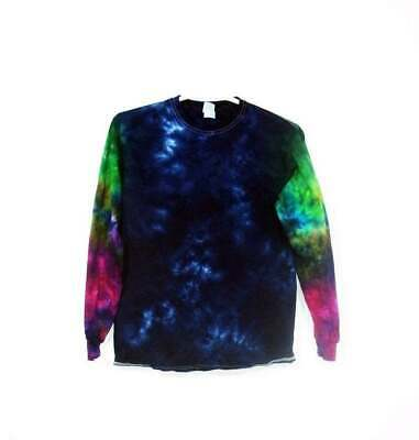 Tie Dye T Shirt Large Youth Crinkle Cotton Short Sleeve Premade