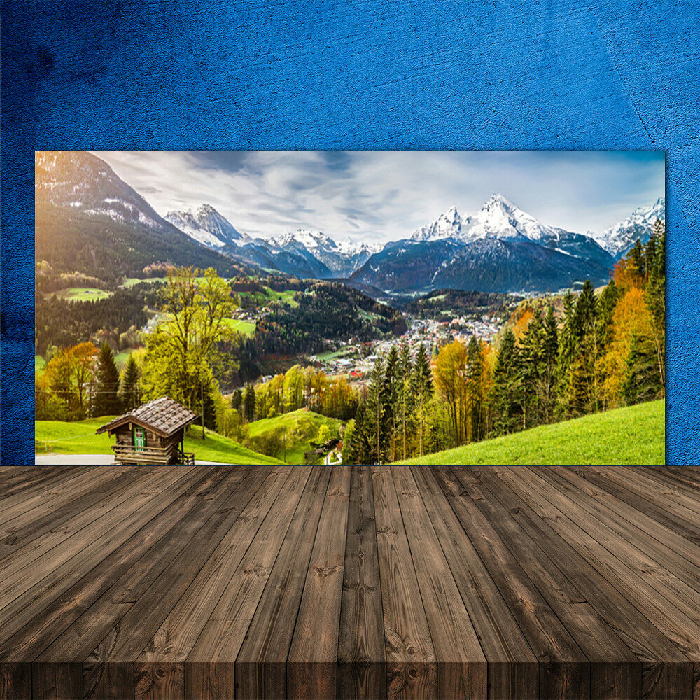 Crédence de cuisine en verre Panneau 120x60 Paysage Alpes