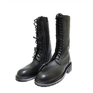 Ann Demeulemeester Pewter Silver Lace Up Leather Combat Boots 39.5 US 9.5 NIB