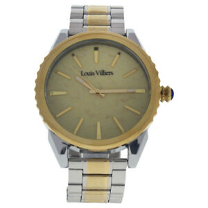 Louis-Villiers-LV2066-Silver-Gold-Stainless-Steel-Bracelet-Watch-1-Pc-Watches