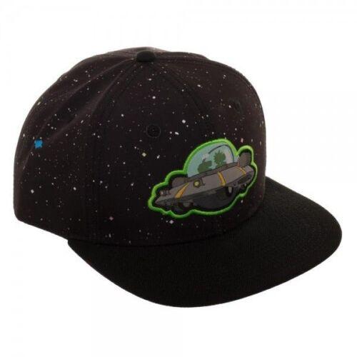 NUOVO UFFICIALE di Rick e Morty-NAVE SPAZIALE//Galaxy Stampa Nero Cappellino
