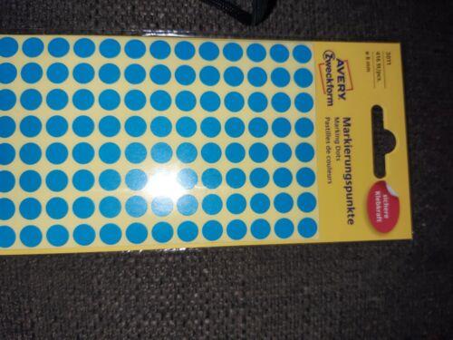 AVERY Zweckform Markierungspunkte Durchmesser 8 mm blau 416 Stück