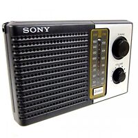 SONY 2 Band FM & AM Portable Battery Transistor Radio Compact Small Travel Size