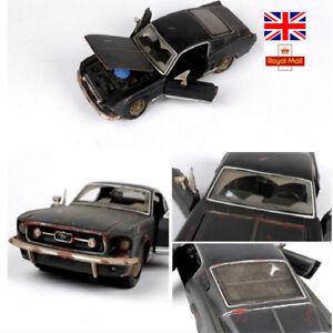 1-24-1967-Ford-Mustang-Gt-Modelo-Coches-de-aleacion-Antigua-Vintage-Diecast-Juguetes-Navidad-Regalos