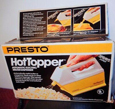 Presto Hot Topper Auto Electric Butter Melter Dispenser Spray Brush Complete