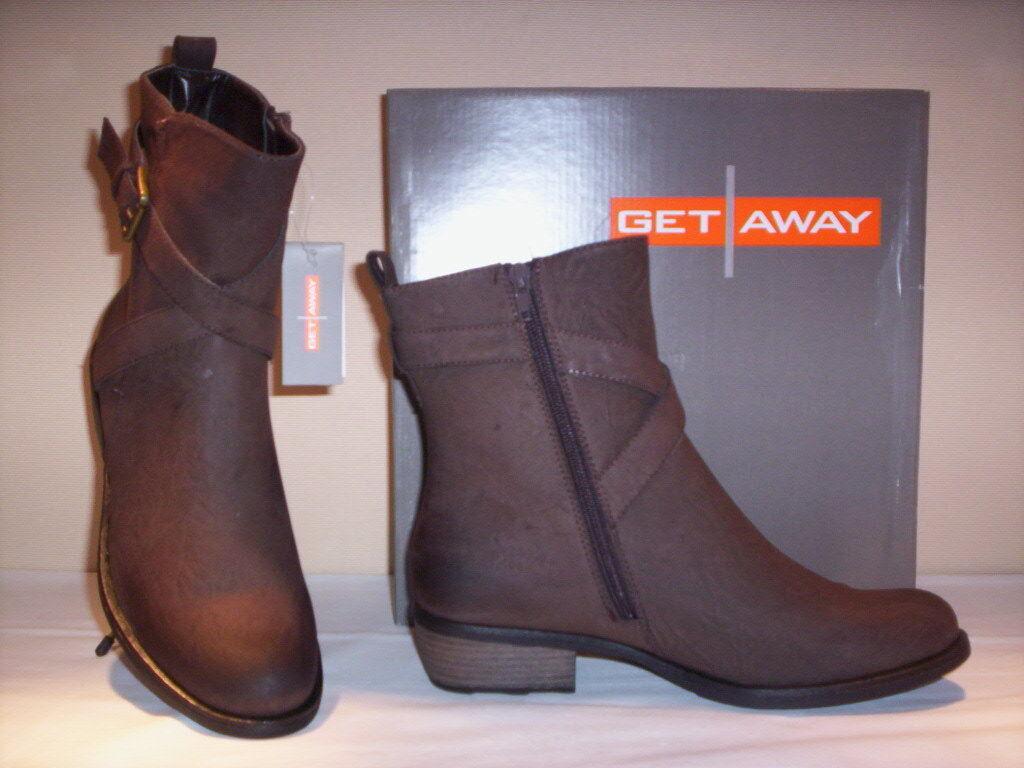 Schuhe Stiefel Knöchelstiefletten Get Away Damenschuhe Frauen casual braun 36 38   | Großer Verkauf