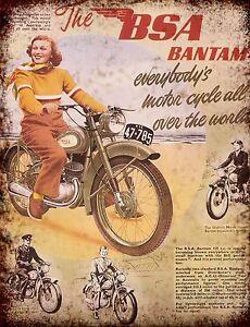 BSA Goldstar Bikes motorbikes advertising retro vintage metal sign