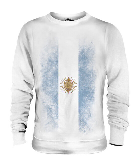 ARGENTINA FADED FLAG UNISEX SWEATER TOP ARGENTINE ARGENTINIAN ARGENTINEAN