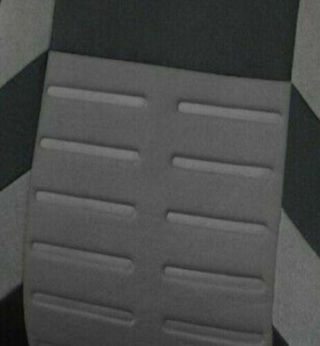 Schwarze Auto-Sitzschoner Sitzbezüge grauen Streifen aus hochwertigem Polyester