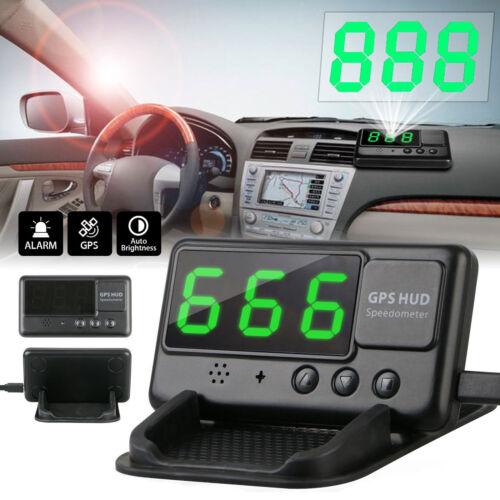 Universal Digital Car GPS Speedometer HUD Head Up Display MPH//KM Overspeed Alarm