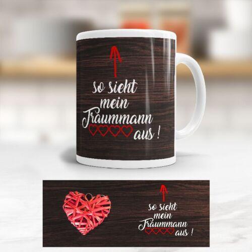 Love Kaffeetasse Valentinstag Liebe Becher Tasse /'Traummann/'