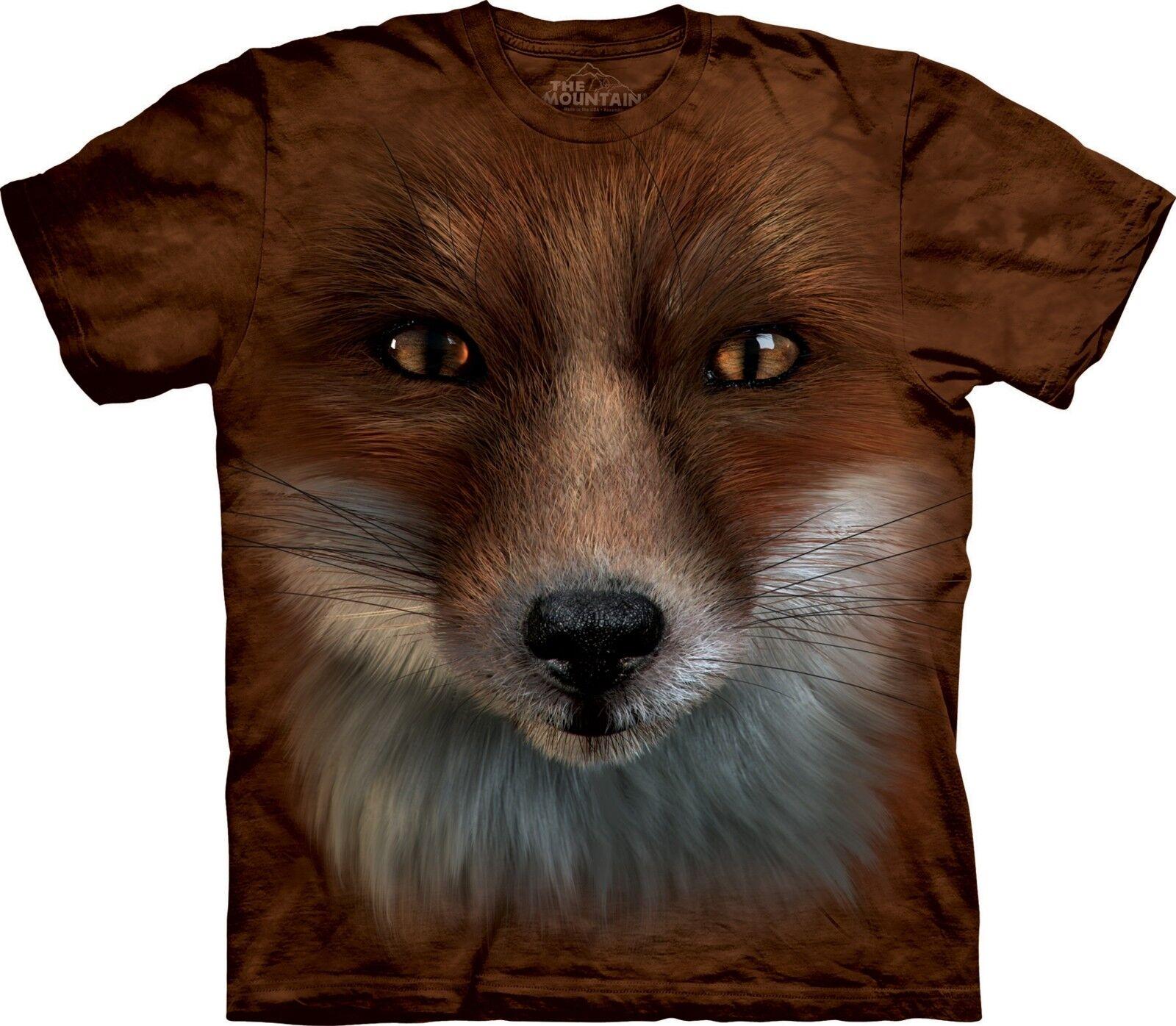 Big Face Fox Animal T Shirt Adult Unisex The Mountain