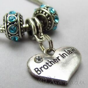 Image Is Loading Brother In Law Charm Pendant And Birthstone European