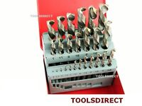 Neilsen 25Pc HSS High Speed Steel Metal Drill Bit Garage Set Tool 1mm - 13mm
