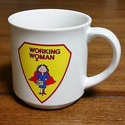 Vintage Working Woman Superhero Feminist Coffee Mug Recycled Paper Products Dale
