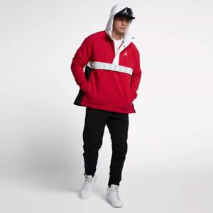 d949c3d00489 Nike Jordan Wings Anorak Half ZIp Pullover Jacket M L XL Red Black ...