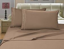NEW Elegant Comfort 4pc Egyptian Quality Bed Sheet Set, Taupe, California King
