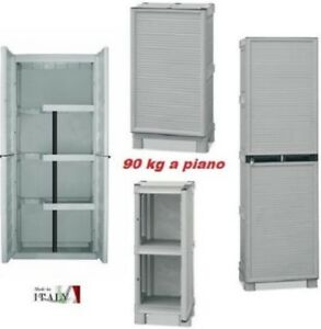 Armadietti armadi box in resina mobile per esterno balcone cerniere in metallo ebay - Armadi per esterno in resina ...