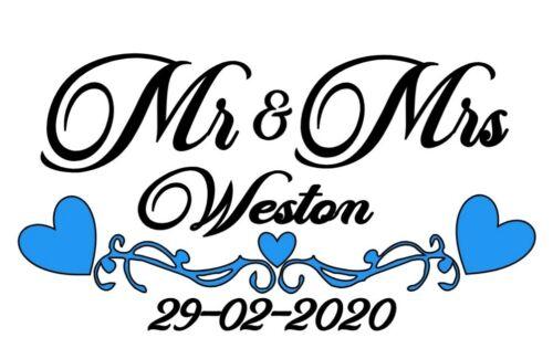 Mr /& Mrs Wall Art Vinyle Autocollants