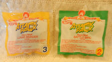 McDonald's Happy Meal Toy - 1994 Attack Pack - #2 Battle Bird & #3 Lunar Invader