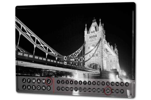 Dauer Wand Kalender Stadt Butcher London England Metall Magnet
