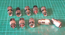 PL259 RG213 SCREW ON PLUGS TEN  NEW BROWN INSERTS  HAM RADIO USE 9 - 10 MM COAX