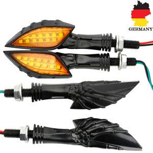 4x15LED-Universal-Motorrad-Skull-Blinkleuchte-Mini-Blinker-fuer-Quad-Roller-Lampe
