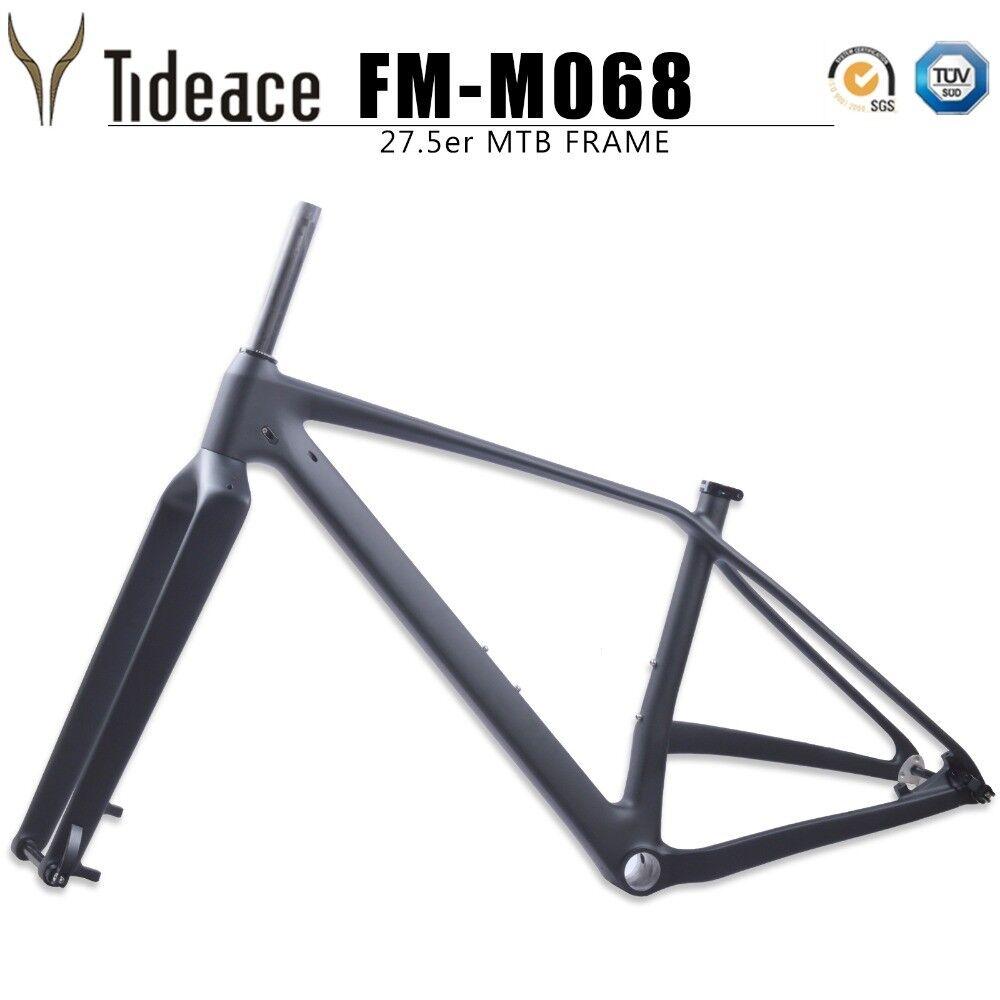 650B Plus Bicicleta de Montaña de Fibra de Carbono + 27.5er Cuadro para Bicicleta de OEM tenedor Plus