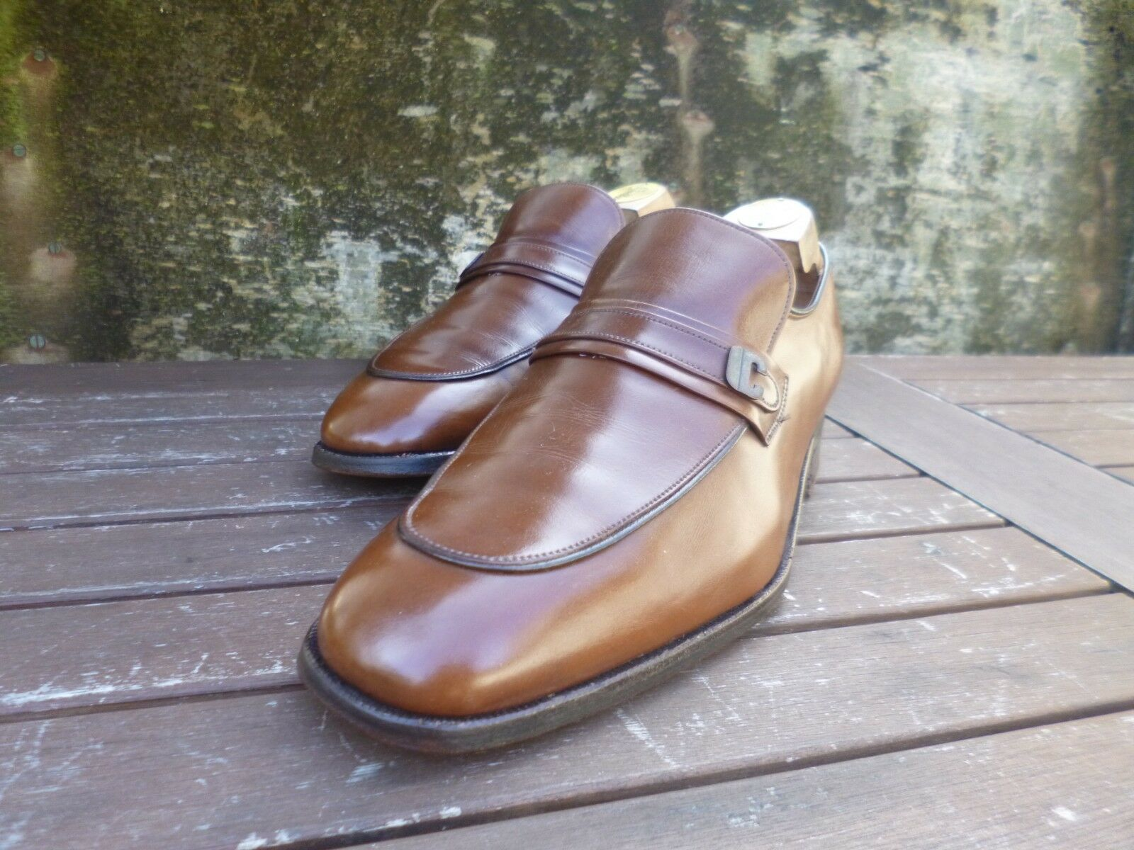 Iglesia Mocasines – Vintage Marrón Bronceado-UK 7.5 – indo-Excelente Estado