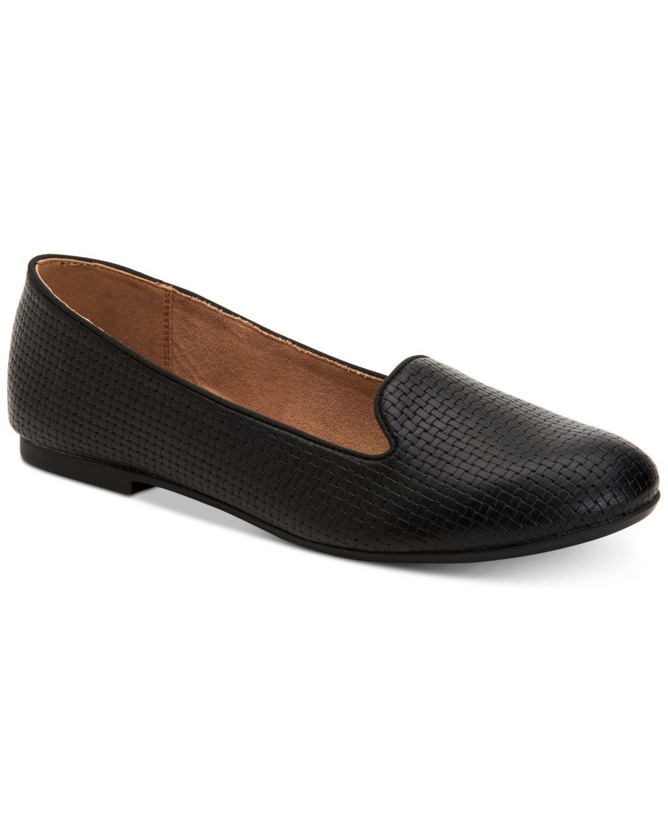 Style & Co. Womens Alysonn2 Round Toe Loafers, Black Pu, Size 10.0 8QmT US