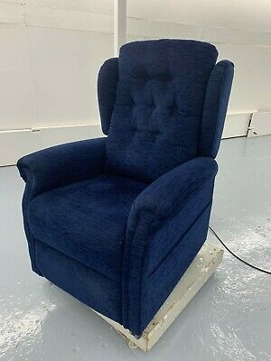 Oak Tree Mobility Electric Riser Recliner chair Blue Hardly used. OPEN TO OFFERS | eBay