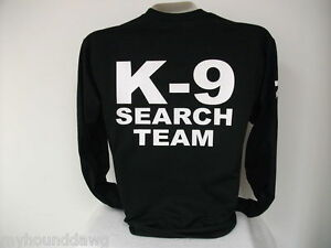 301c58b3a7c Image is loading K-9-Search-And-Rescue-Long-Sleeve-T-
