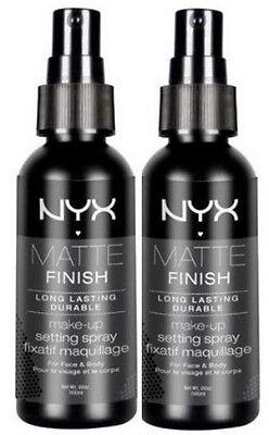 NYX Cosmetics Makeup Setting Spray Matte Finish MSS01 - Pack of 2