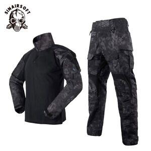 Mens Airsoft Tactical Gen3 G3 Combat Suit Shirt Pants Special Forces BDU Uniform