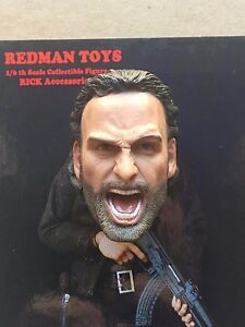 "REDMAN Rick Grimes TWD The Walking Dead 12"" Head Sculpt RM018 loose 1/6th scale"