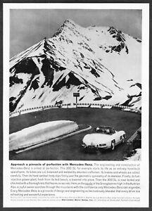 ALPS 1961 MERCEDES BENZ 300 SL Convertible Car Vintage Look REPLICA METAL SIGN